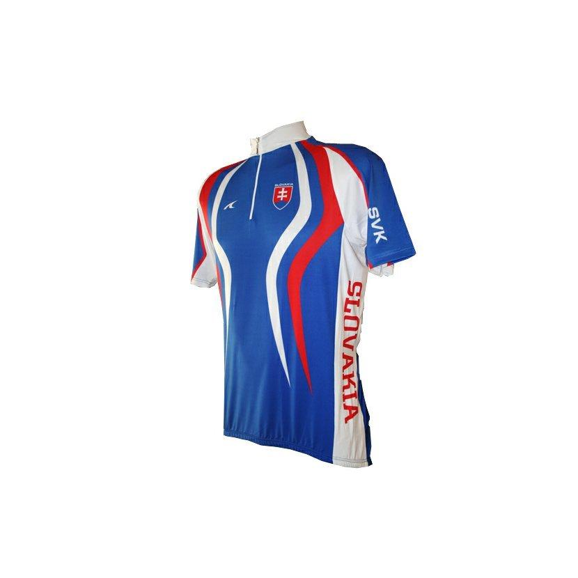 72a203917f123 Cyklistický dres SK krátky rukáv modrý-S