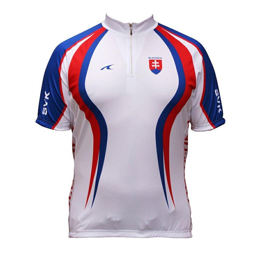 7d4fd0cb32969 Cyklistický dres SK kratky rukáv biely-S