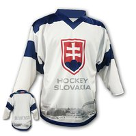 32f5a458b0562 Hokejový dres fan Bratislava biely